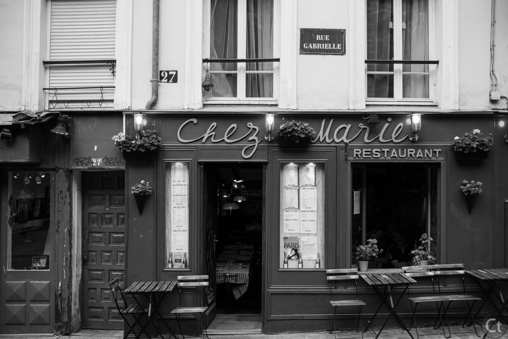 A cafe in Montmartre