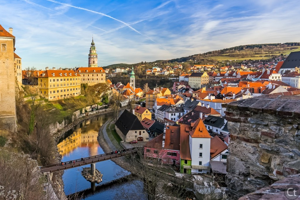A view from Cesky Krumlov Castle
