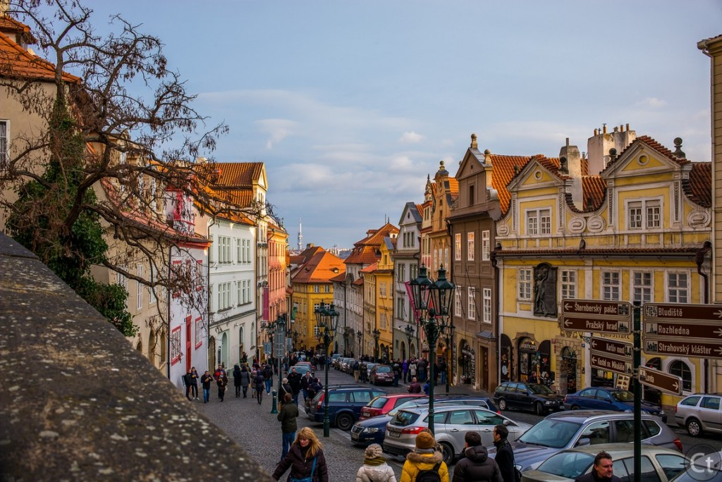At the foot of Prague Castle