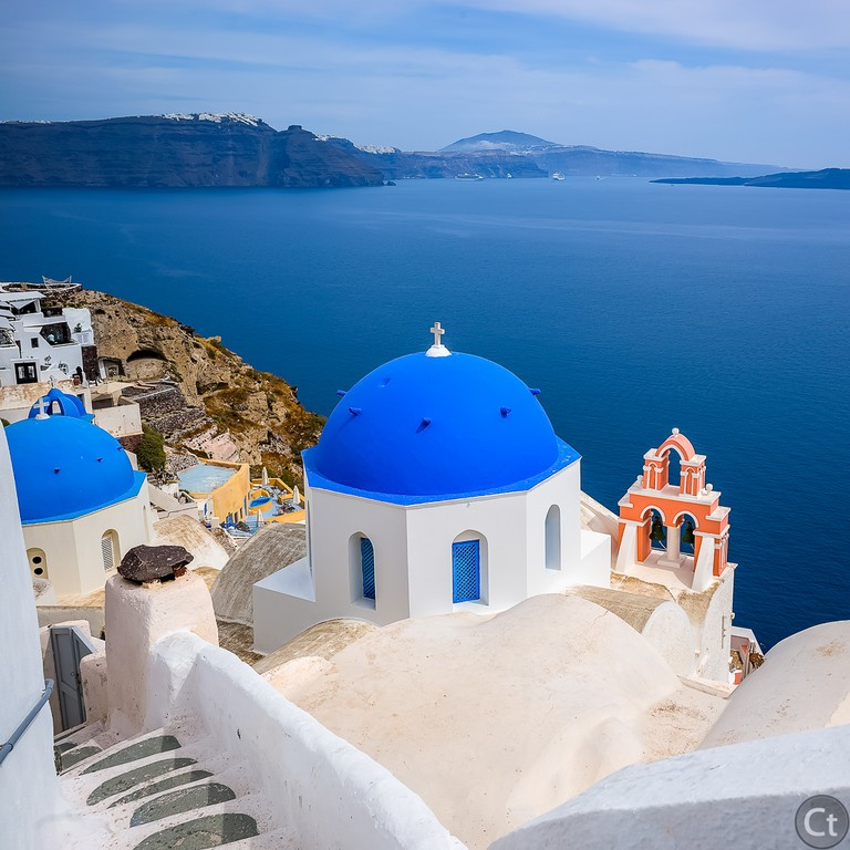 Blue and White, typical Santorini's architecture