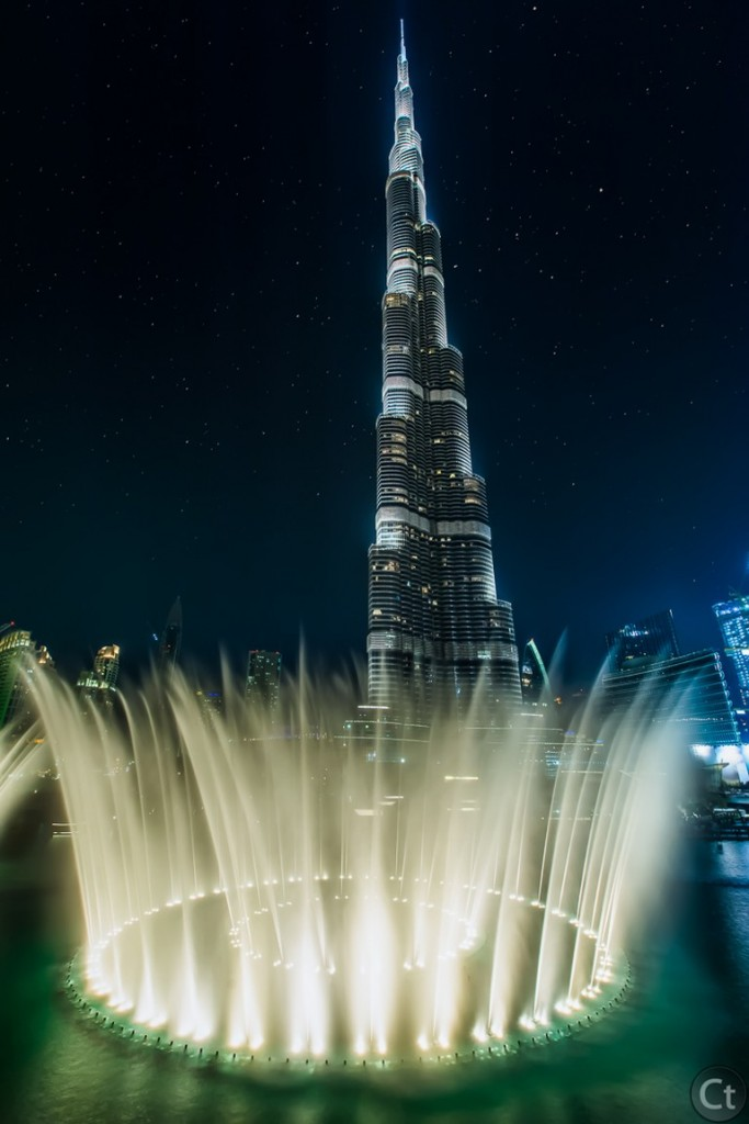 Burj Khalifa, crowned by the fountain