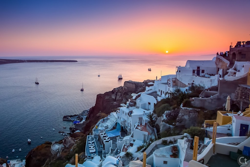 Spectacular Sunset in Oia