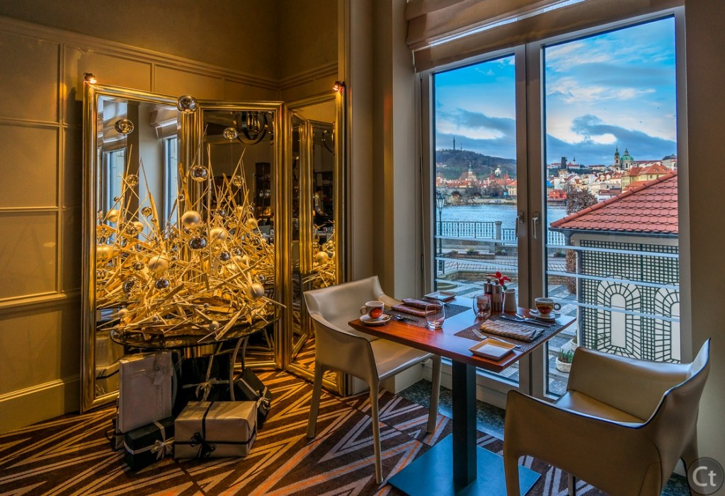 The restaurant with the most wonderful view in Prague