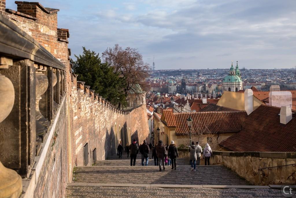Walking down the Prague Castle