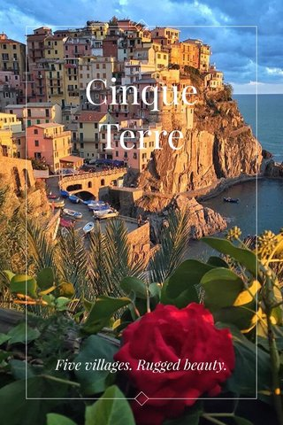Cinque Terre Steller Story